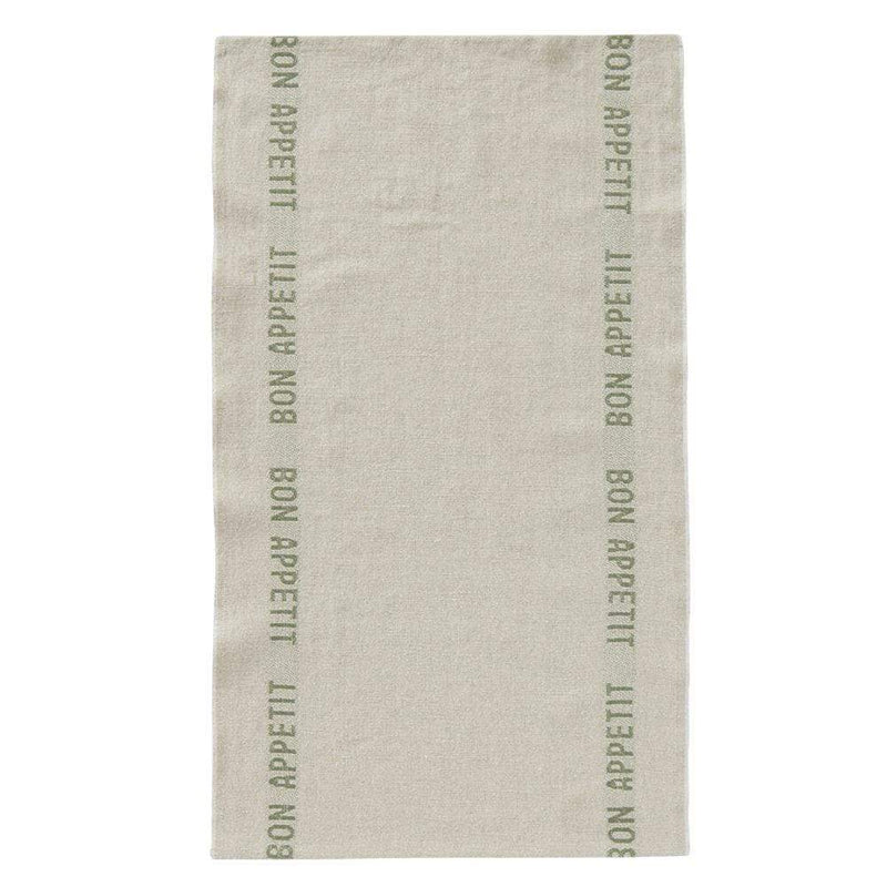 Charvet Editions Tea Towel 1 x Linen/Khaki Bon Appetite Tea Towel Tea Towel French Bon Appetit