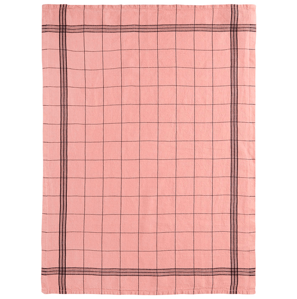 Charvet Editions Tea Towel 1 x Pink French Check Tea Towel Tea Towel French Check 3 Colours