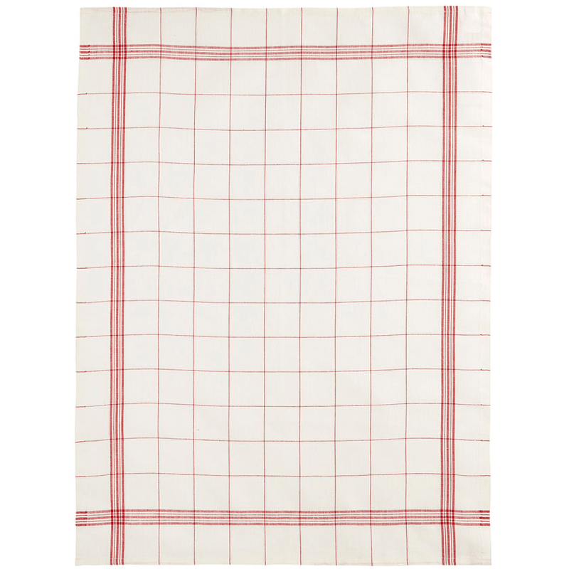 Charvet Editions Tea Towel 1 x Rouge French Check Tea Towel Tea Towel French Check 3 Colours
