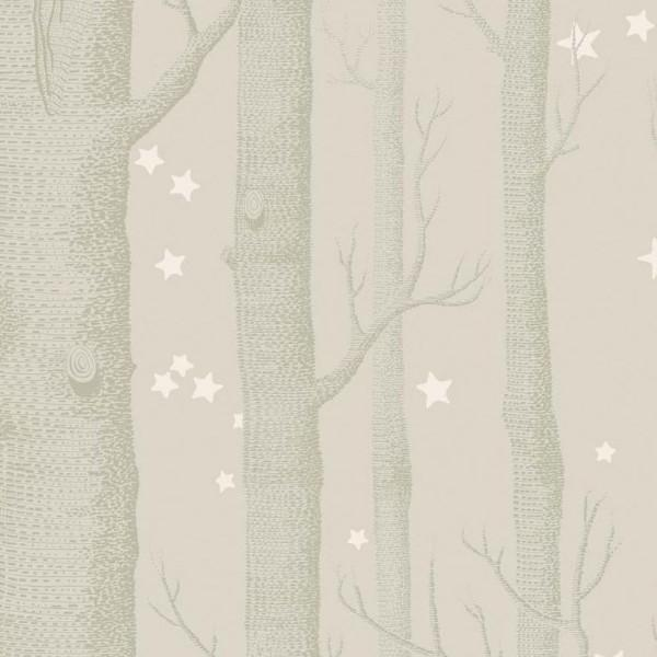 Cole and Son Wallpaper 1 x Beige White Woods & Stars 103/11048 Wallpaper Roll Cole & Son Woods and Stars Wallpaper