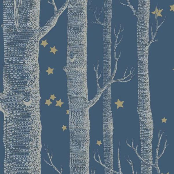 Cole and Son Wallpaper 1 x Blue Woods & Stars Wallpaper Roll Cole & Son Woods and Stars Wallpaper