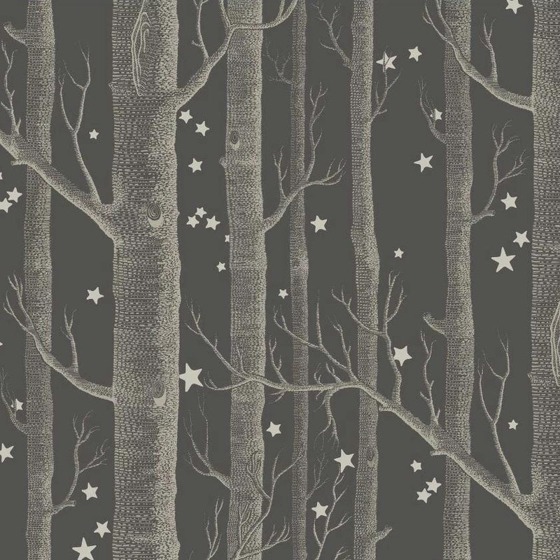 Cole and Son Wallpaper 1 x Charcoal Woods & Stars Wallpaper Roll Cole & Son Woods and Stars Wallpaper