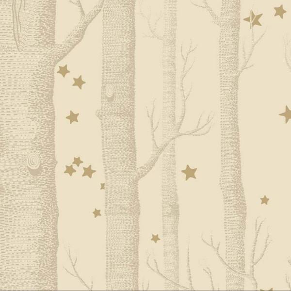 Cole and Son Wallpaper 1 x Gold Wood & Stars Wallpaper Roll Cole & Son Woods and Stars Wallpaper