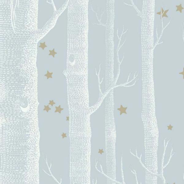 Cole and Son Wallpaper 1 x Light Blue Woods & Stars Wallpaper Roll Cole & Son Woods and Stars Wallpaper