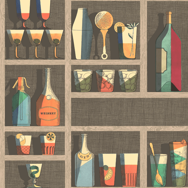 Cole and Son Wallpaper 1 x Roll 114/23043 Cocktails Wallpaper Cole and Son Fornasetti Cocktails Wallpaper 3 Colours