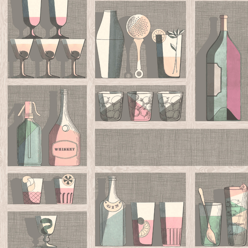 Cole and Son Wallpaper 1 x Roll 114/23044 Cocktail Wallpaper Cole and Son Fornasetti Cocktails Wallpaper 3 Colours
