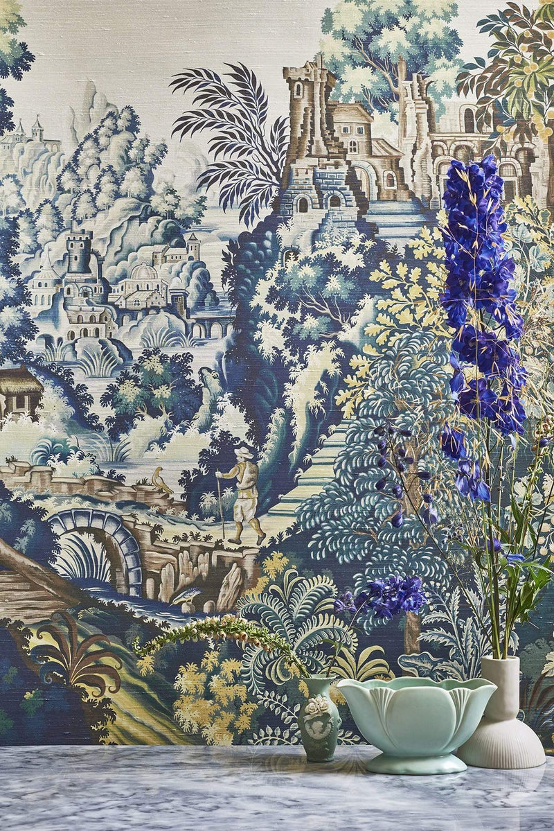 Cole and Son Historic Royal Palaces Grand Masters Vendure Tapestry Wallpaper