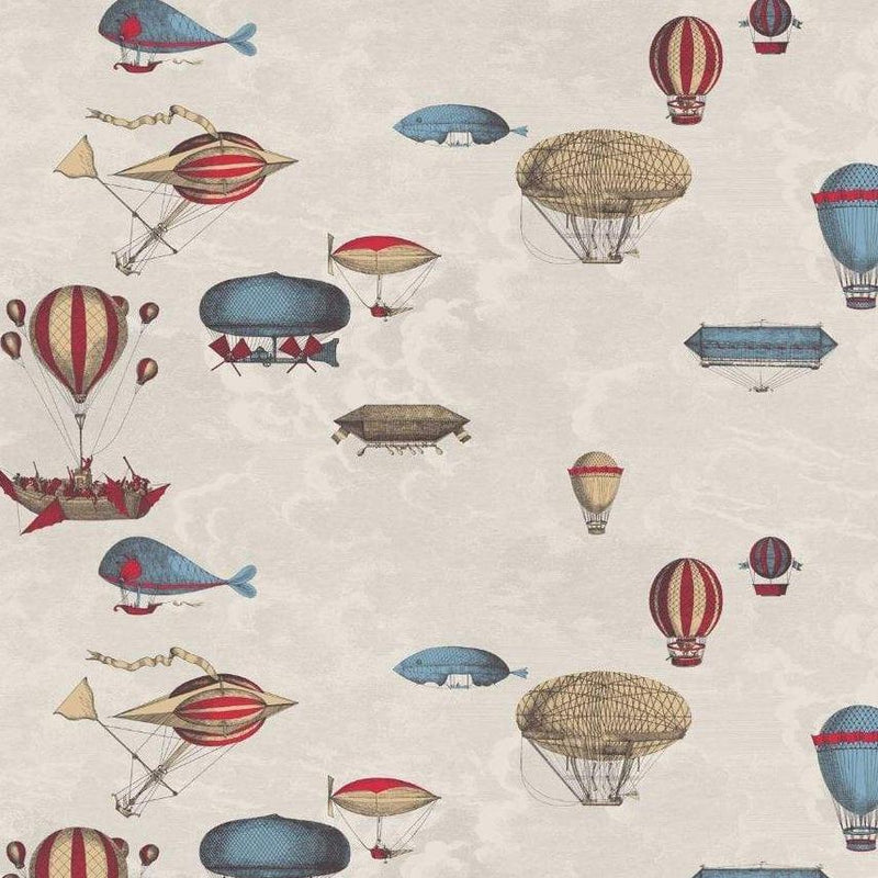 Cole and Son Wallpaper 114/10020 Roll A&B Macchine Volanti Wallpaper Cole and Son Fornasetti Macchine Volanti Wallpaper 4 Colours
