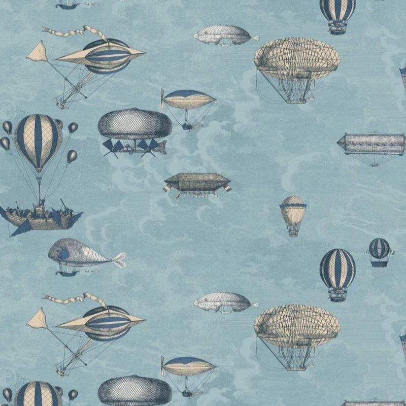 Cole and Son Wallpaper 114/10021 Roll A&B Macchine Volanti Wallpaper Cole and Son Fornasetti Macchine Volanti Wallpaper 4 Colours