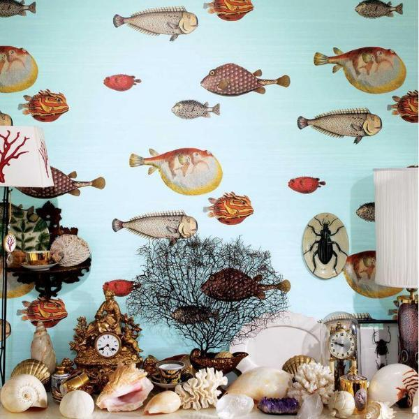 Cole and Son Wallpaper Cole and Son Fornasetti Acquario Wallpaper 5 Colours