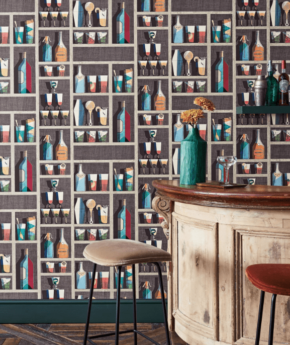 Cole and Son Wallpaper Cole and Son Fornasetti Cocktails Wallpaper 3 Colours