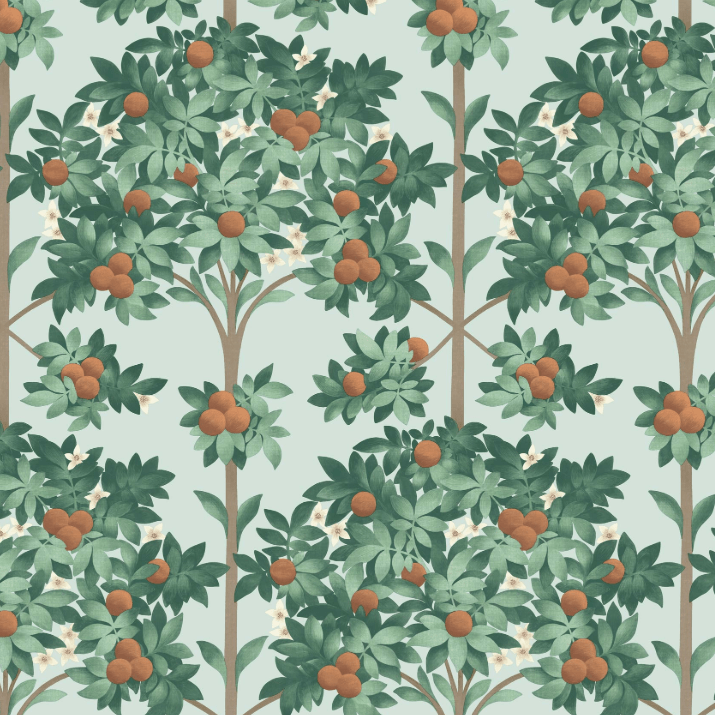 Cole & Son Wallpaper 1 x 117/1004 Seville Orange Blossom Wallpaper Roll Cole and Son Seville Orange Blossom Wallpaper 4 colours