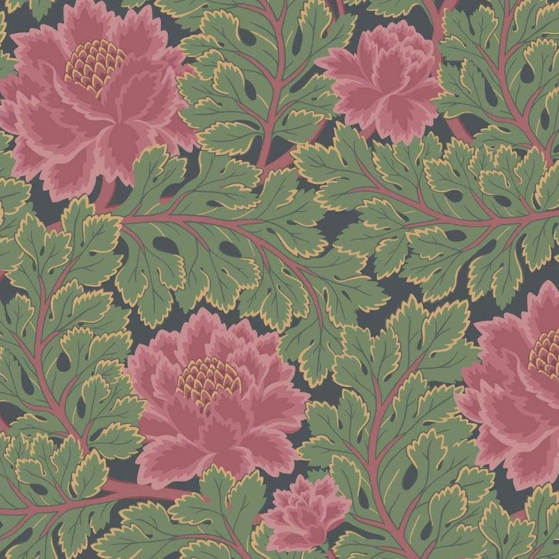 Cole & Son Wallpaper 1 x Rose & Forest on Charcoal Aurora Wallpaper Cole and Son The Pearwood Aurora Wallpaper