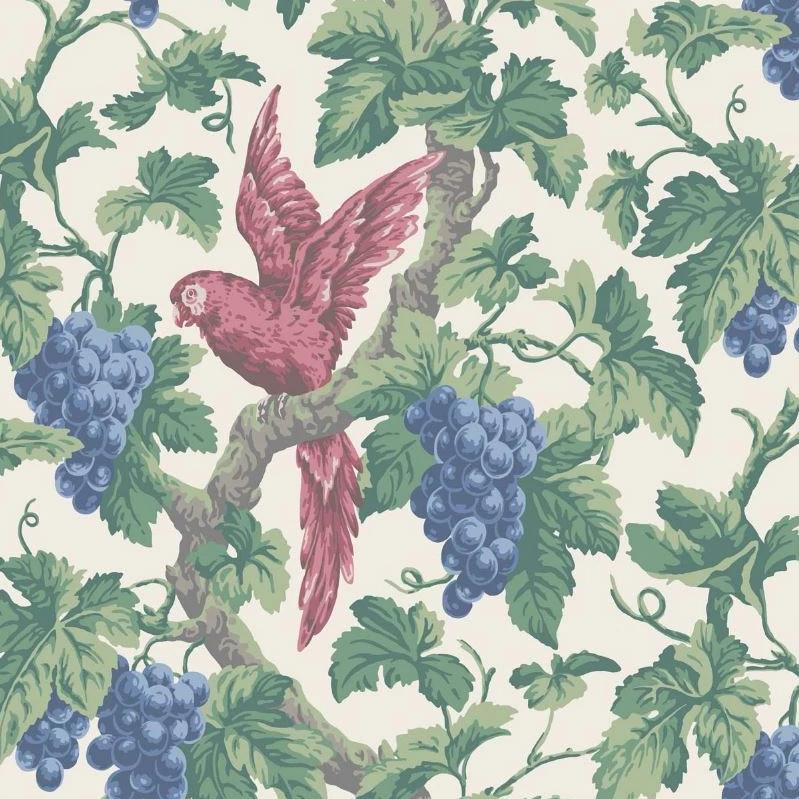 Cole & Son Wallpaper 1 x  Rose, Hyacinth & Forest on Parchment Woodvale Orchard Wallpaper Cole and Son The Pearwood Woodvale Orchard Wallpaper