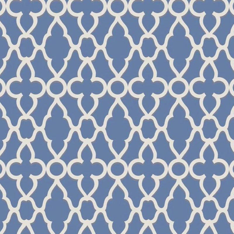 Cole & Son Wallpaper 1 x White on Hyacinth Treillage Wallpaper Roll Cole and Son The Pearwood Treillage Wallpaper