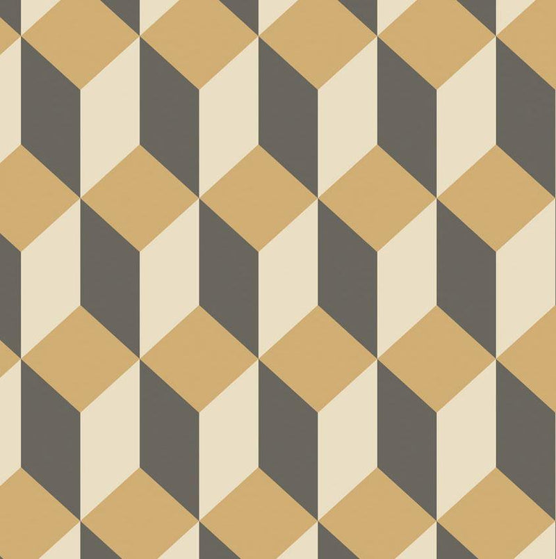 Cole & Son Wallpaper Gold & Black Delano 1 Roll Cole & Son Delano Wallpaper