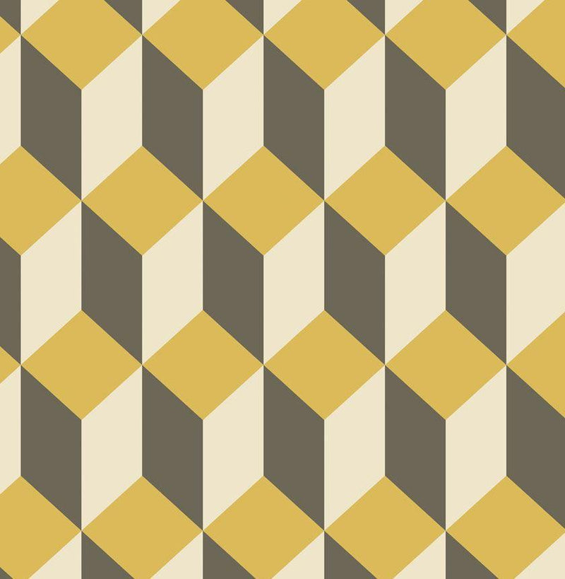 Cole & Son Wallpaper Yellow & Black Delano 1 Roll Cole & Son Delano Wallpaper