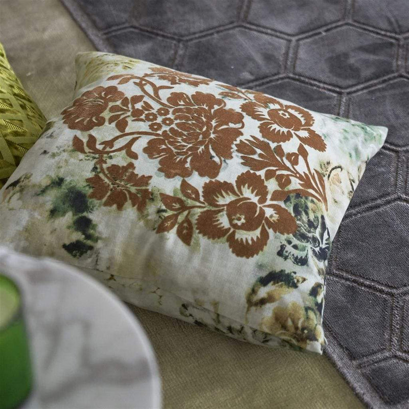 Designers Guild Cushions 1 x Amethyst Tarbana Cushion Designers Guild Tarbana Linen Cushion