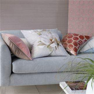 Designers Guild Cushions 1 x Manipur Coral Cushion Designers Guild Manipur Coral Cushion