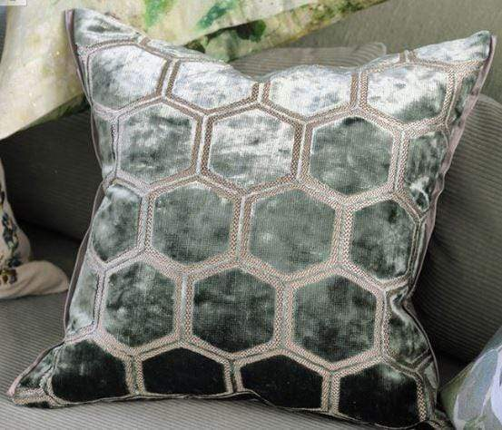 Designers Guild Cushions 1 x Manipur Jade Cushion Designers Guild Manipur Jade Cushion