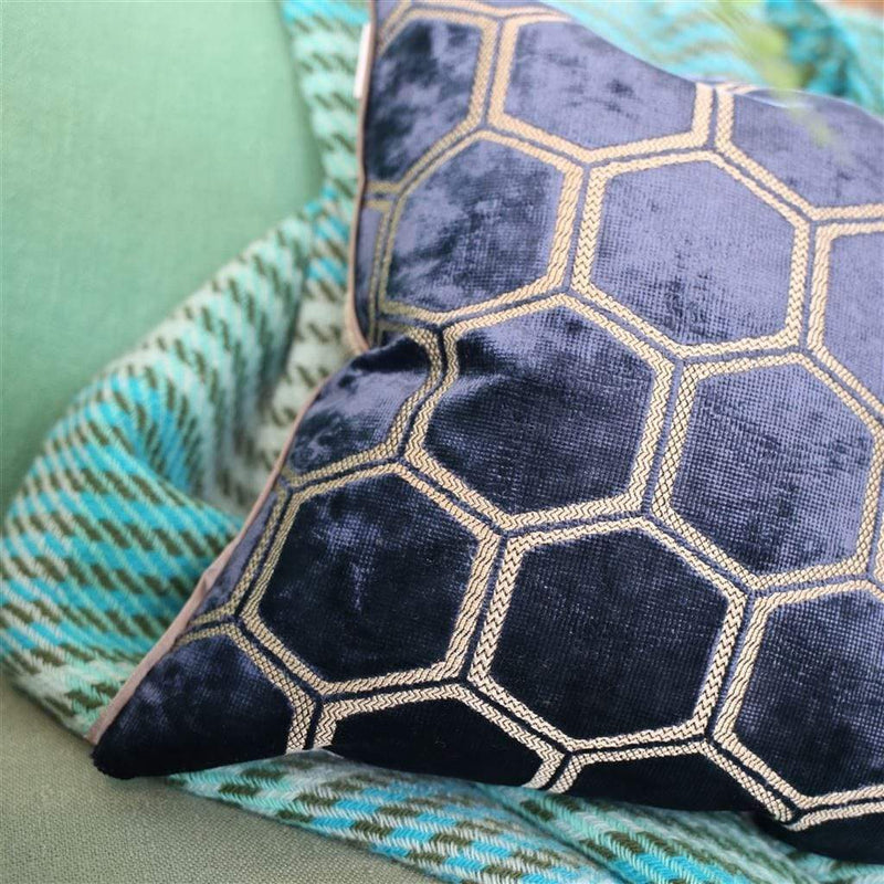 Designers Guild Cushions 1 x Manipur Midnight Cushion Designers Guild Manipur Midnight Cushion