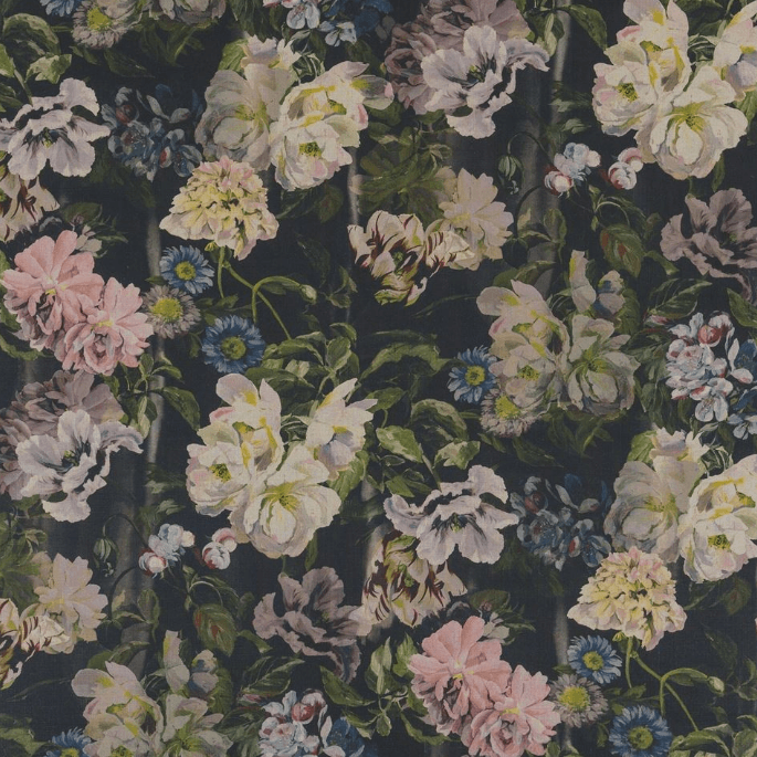 Designers Guild Upholstery Fabric 1 x Metre Graphite Delft Flower Fabric Designers Guild Delft Flower Fabric 3 Colourways
