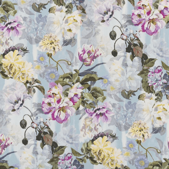 Designers Guild Upholstery Fabric 1 x Metre Sky Delft Flower Fabric Designers Guild Delft Flower Fabric 3 Colourways