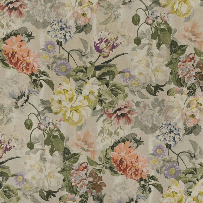 Designers Guild Upholstery Fabric 1 x Metre Tuberose Delft Flower Fabric Designers Guild Delft Flower Fabric 3 Colourways