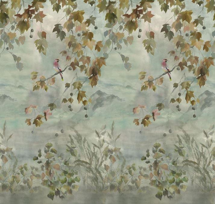 Designers Guild Wallpaper 1 x Set of Scene 2 Miyako Dove Wallpaper Designers Guild Miyako Scene 2 Dove Wallpaper