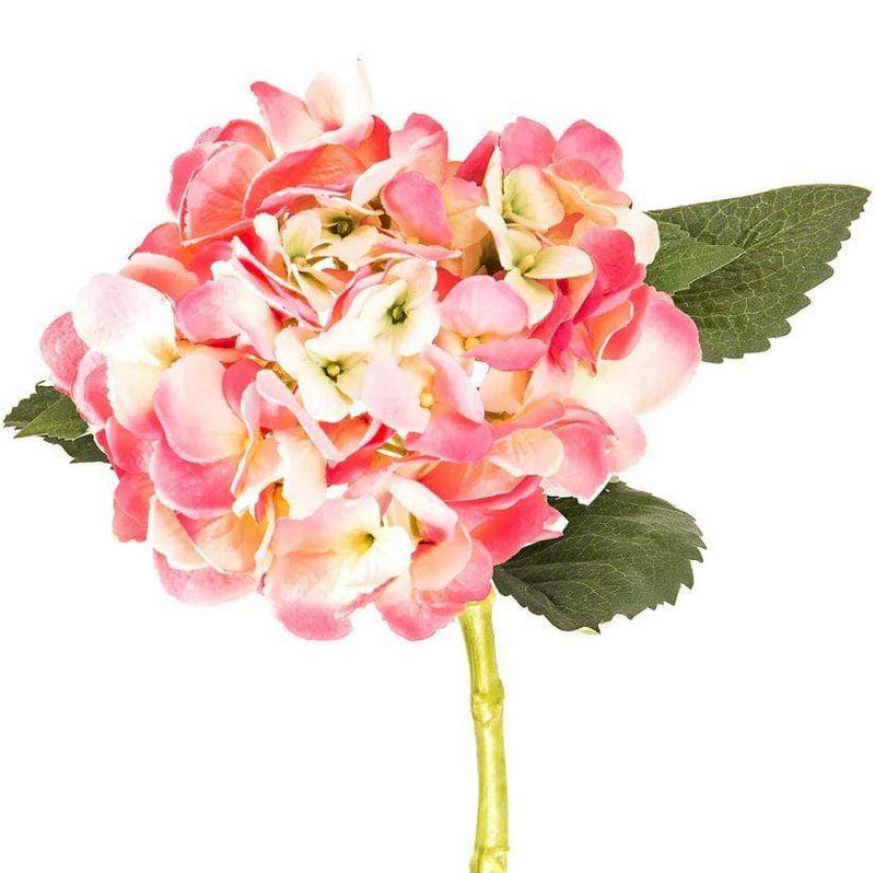 Gaudion Furniture Artificial Flowers 1 x Stem Pink Hydrangeas Hydrangea Pink