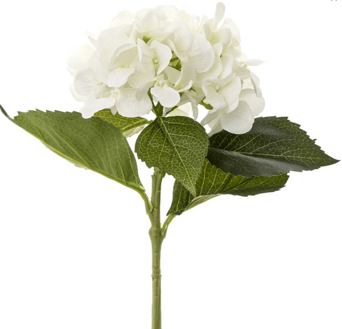 Gaudion Furniture Artificial Flowers 1 x White Hydrangea Hydrangeas White