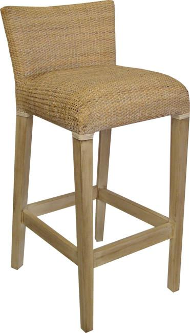 Gaudion Furniture Bar stools Amalfi Cane Bar Stool White