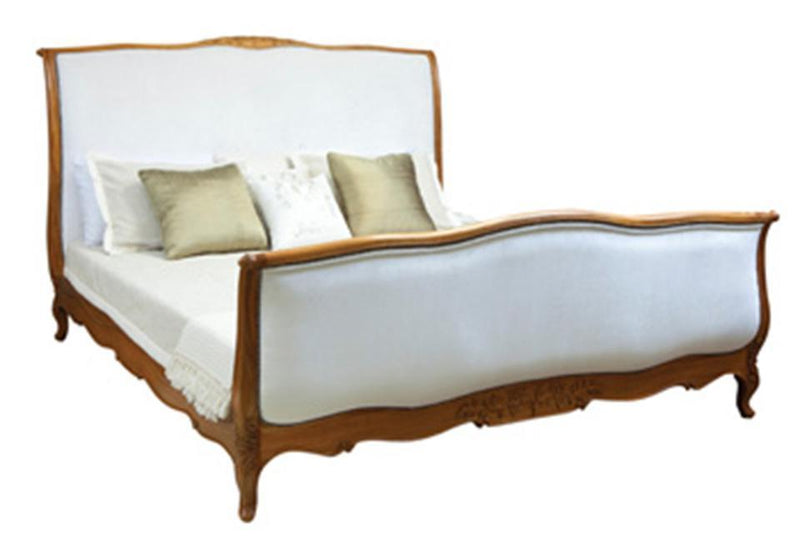 Gaudion Furniture Bed 1 x King Size Ritz Bed less fabric French Provincial Sleigh Bed Queen or King