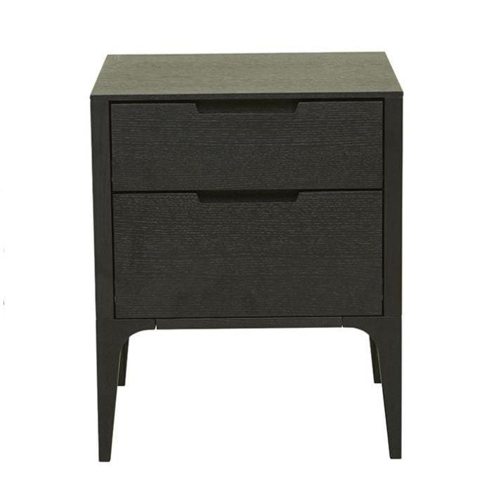 Gaudion Furniture Bedside Tables 1 x Lucca Black Oak Bedside Lucca Bedside Table Black Oak