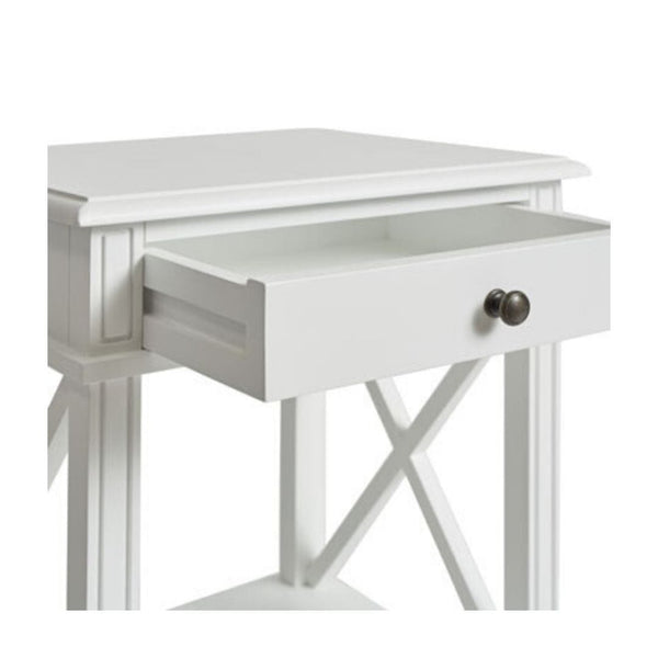 Gaudion Furniture Bedside Tables 1 x White Hamptons Bedside Table Hamptons Bedside Table White