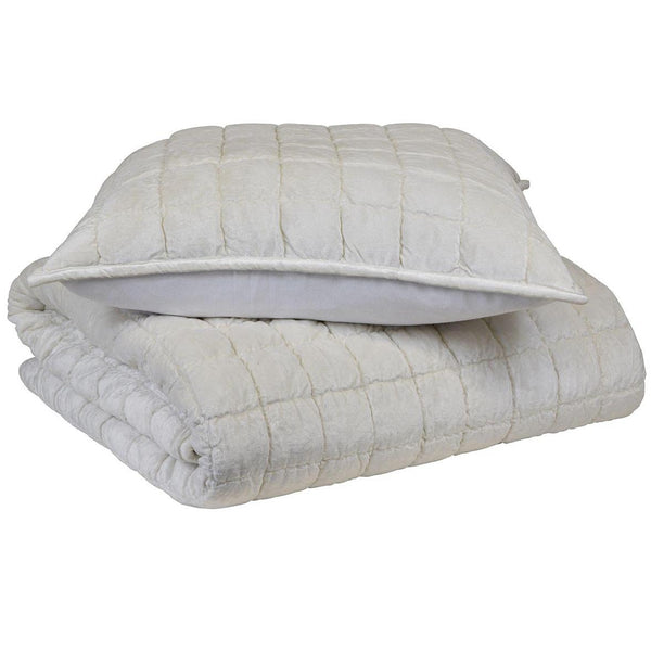 Gaudion Furniture Bedspread Comforter & Pillow Audrey Ivory