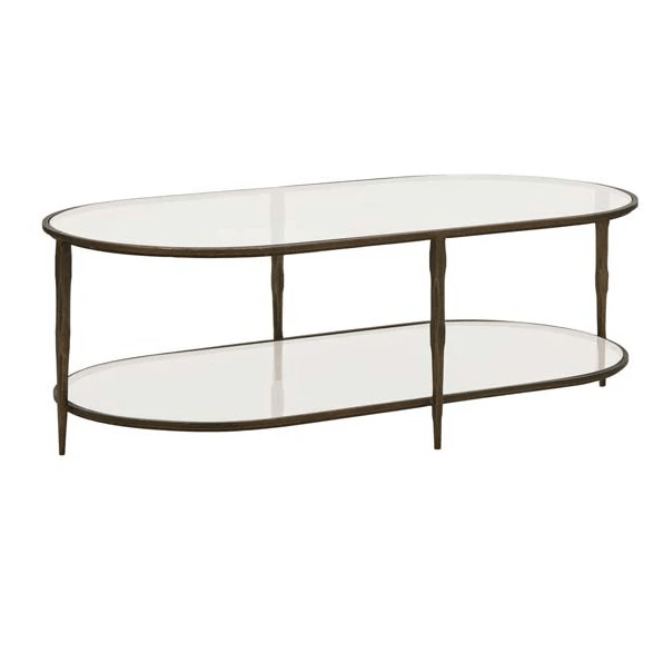 Gaudion Furniture Coffee Table Glass Coffee Table Amelie Oval