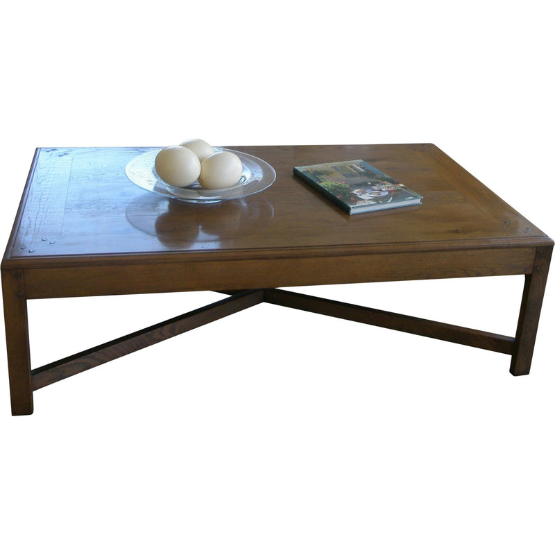 Gaudion Furniture Coffee Table & Side Tables 1 x Bass Coffee Table Oak 150 cm x 90 cm Cross Base Wood Coffee Table