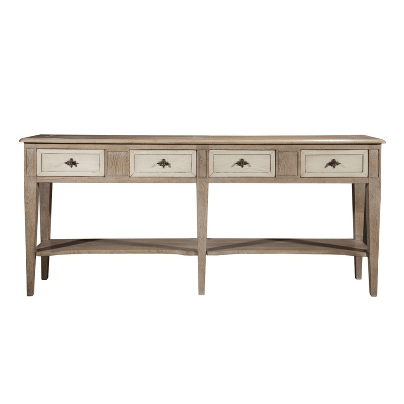 Gaudion Furniture Console, Hall Table 1 x Large 180 cm long Logan Console Logan Oak Console Table 4 Drawers