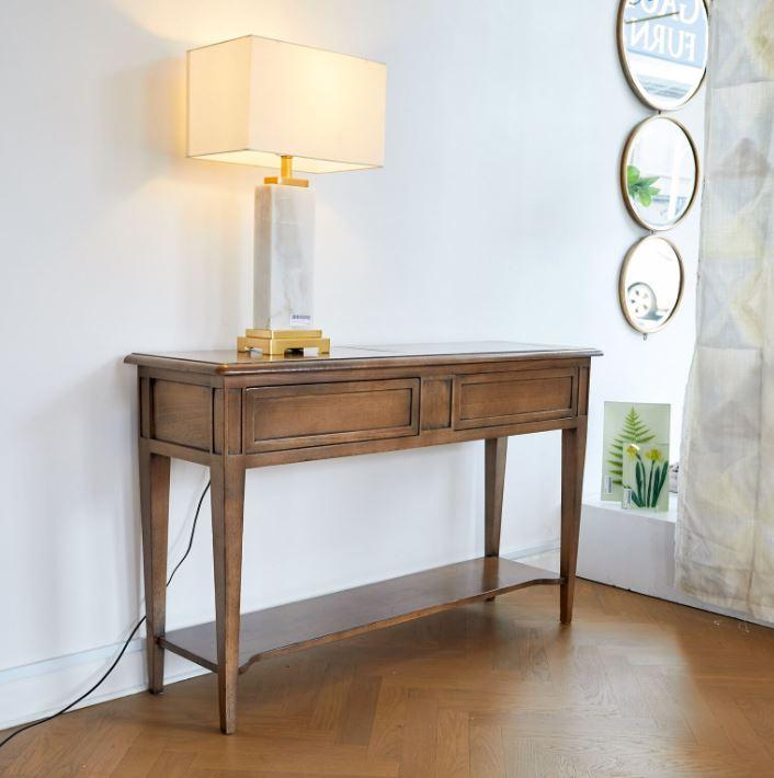 Gaudion Furniture Console, Hall Table 1 x Medium 130 cm Logan Console Logan Oak Console Table 2 Drawer