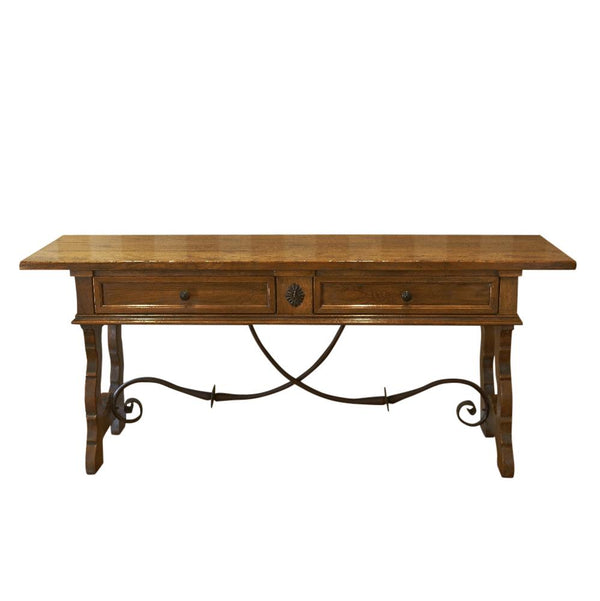 Gaudion Furniture Console, Hall Table Spanish Console Custom Colour Spanish Oak Console Table