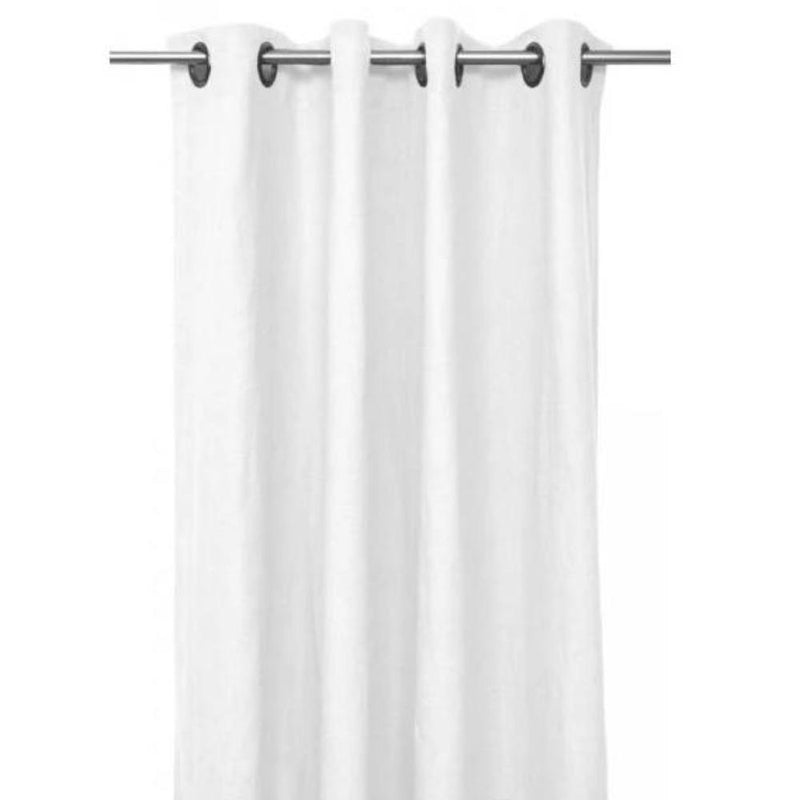 Gaudion Furniture Curtains 1 x White Curtain (order item) Curtains Linen Stonewash 3 Colours