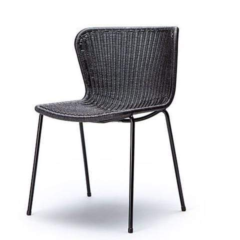 Gaudion Furniture Dining chairs 1 x Charcoal Rattan/Black Frame C603 Dining Chair C603 Rattan Dining Chairs 3 Colours