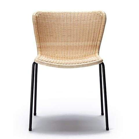 Gaudion Furniture Dining chairs 1 x Natural Rattan/Black Frame C603 Chair C603 Rattan Dining Chairs 3 Colours