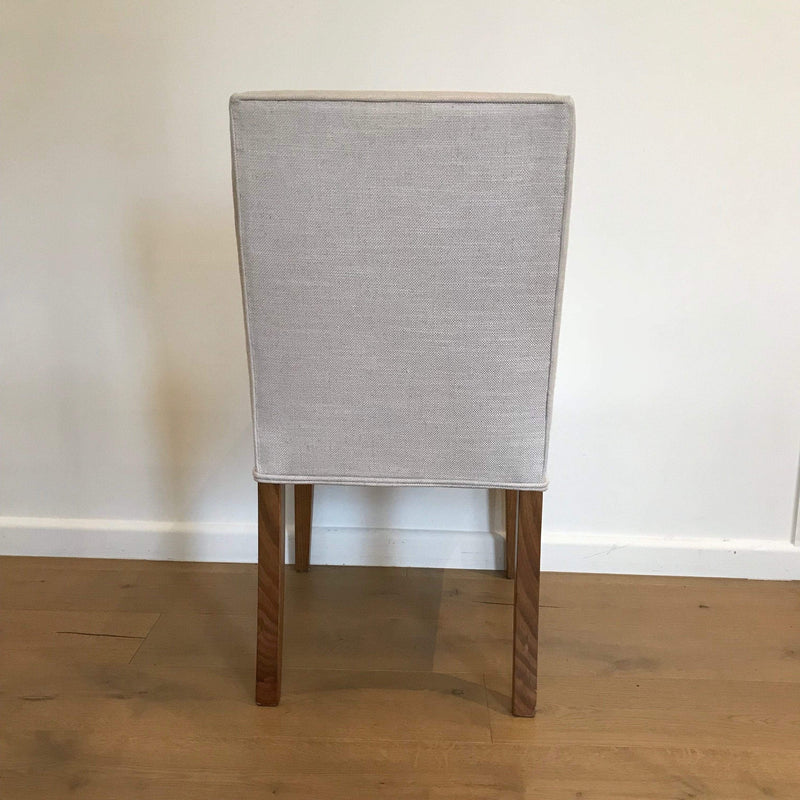 Gaudion Furniture Dining chairs 1 x Tapered Leg Chair - Fabric Additional Tapered Leg Upholstered Dining Chair - Straight Top