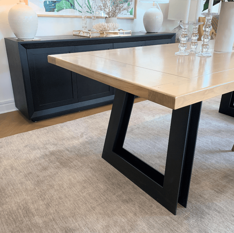 Gaudion Furniture Dining Table 1 x Paddock Dining Table  220 cm x 100 cm Paddock Oak Dining Table  In Stock