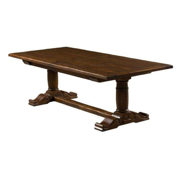 Gaudion Furniture Dining Table Pedestal Extendable Dining Table