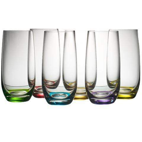 Gaudion Furniture Drinking Glasses 6 x Large Coloured Glasses Coloured Glasses  Medium or Large