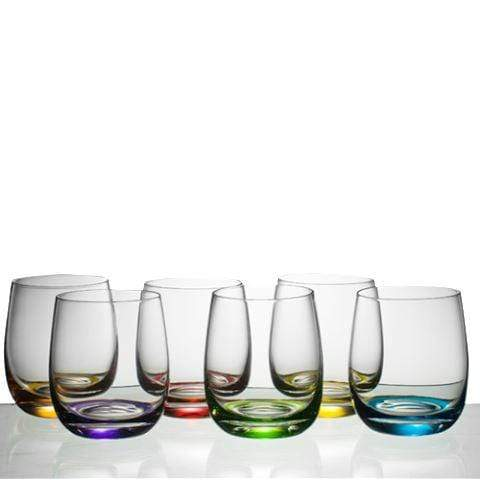 Gaudion Furniture Drinking Glasses 6 x Medium Coloured Glasses Coloured Glasses  Medium or Large