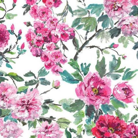 Gaudion Furniture Fabric 1 X Metre Peony Shanghai Garden FDG2295/01 Designers Guild Shanghai Garden Fabric 3 colours